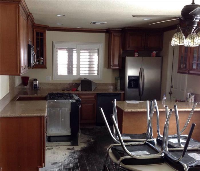 Small Kitchen Fire Before